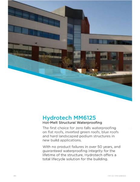Hydrotech Hot-melt Structural Waterproofing