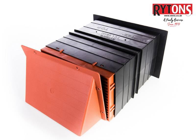 TCL18CWL - Rytons 9 x 6 Cowled Ventilation Set with Louvre Ventilator