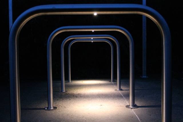 Illuminated Sheffield Cycle Stand