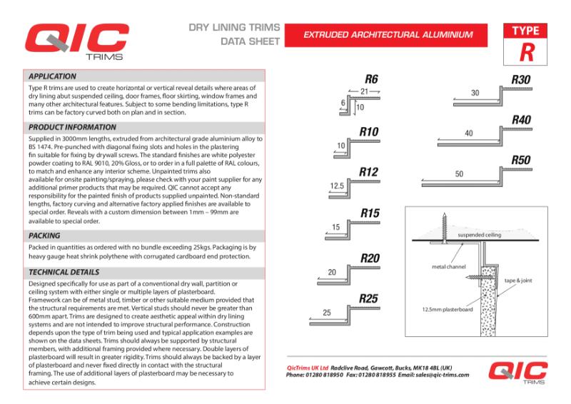 QIC R reveal trim