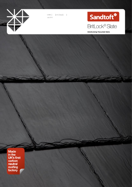 BritLock Roof Slate - Interlocking recycled slate
