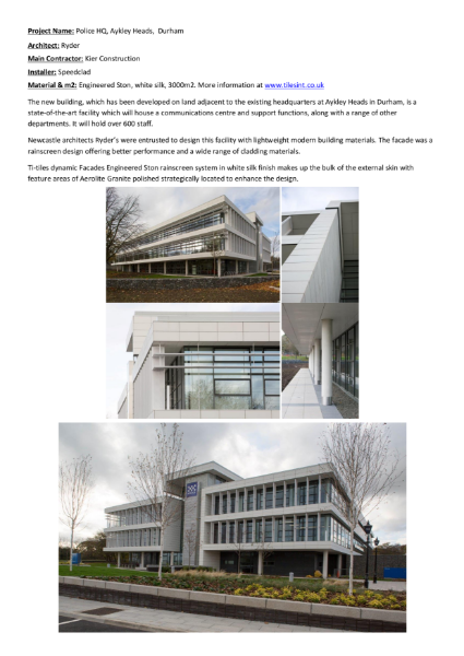 Stone Cladding - Case Studies - Engineered Ston Rainscreen Cladding