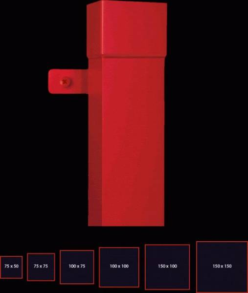 100 x 75 mm rectangular downpipe
