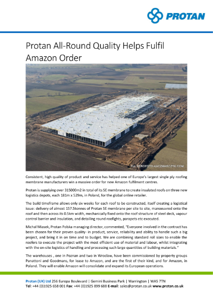 Amazon Distribution Centre, Poland Protan Standard Overlap System