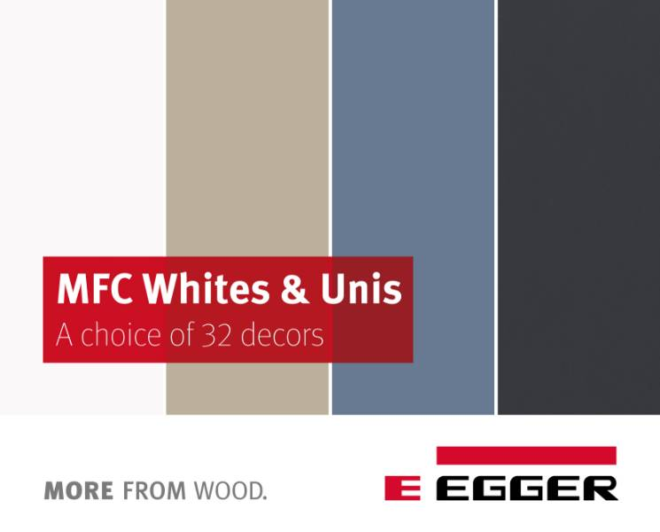 EGGER MFC Whites & Uni Colours