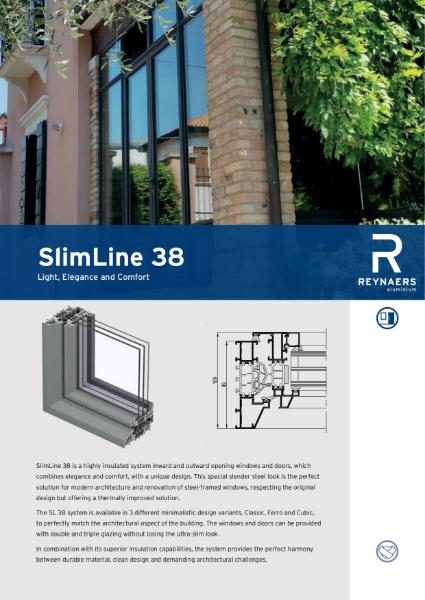 Aluminium Window & Door System -  SL 38 Slim Line window and door