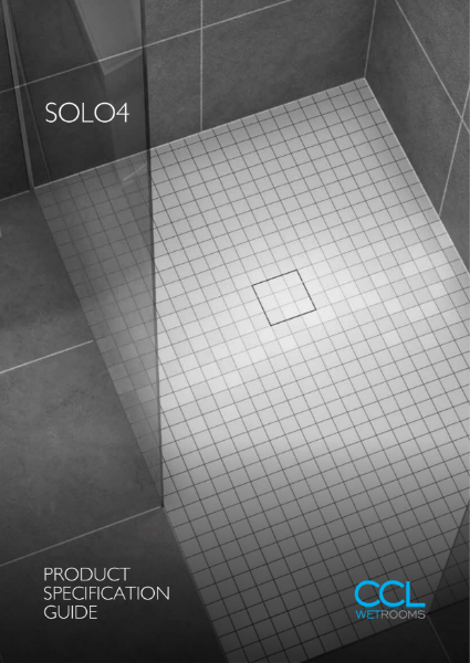 Wetroom Drainage - Solo4 Drain
