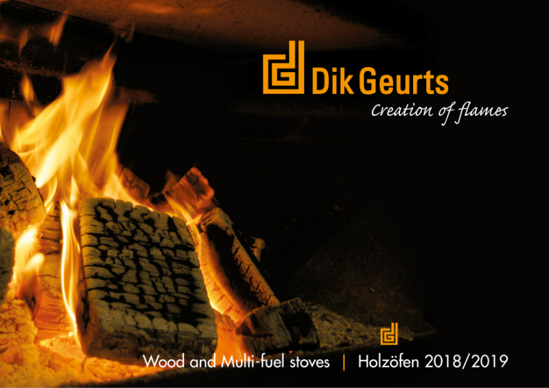 Dik Geurts wood fires and stoves brochure 2018/2019