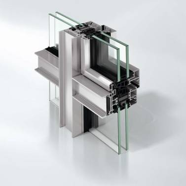 Super insulated aluminium façade window system - AWS75EF.SI