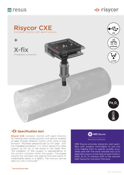 Risycor CXE-fix set Technical Datasheet EN V2 00