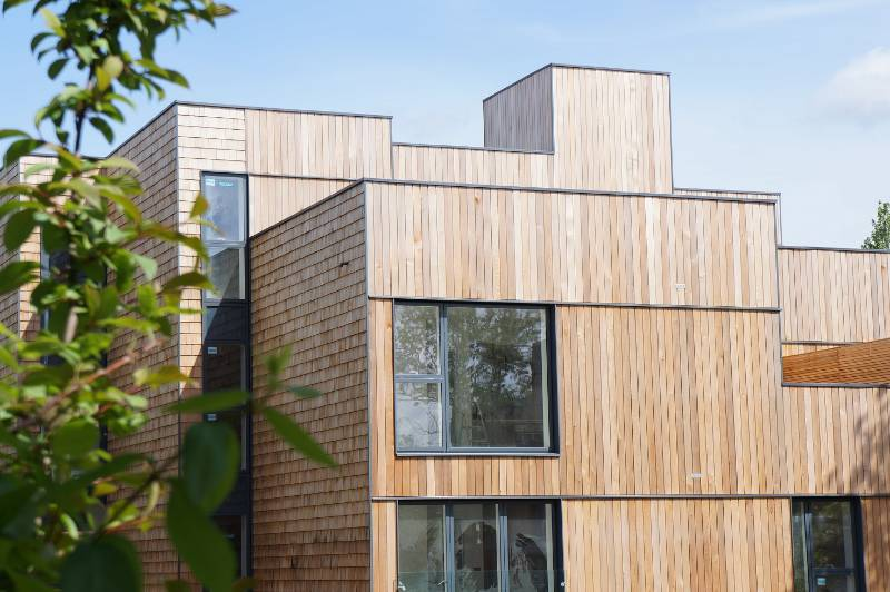 Canadian Western Red Cedar Timber Cladding Case Study - NORclad - Churchwood Gardens