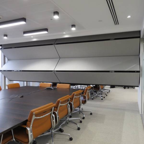 'Green' Fabric for Skyfold Vertical-Rising Partition