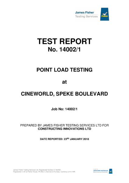 Retanol Xtreme Point Load Test Report