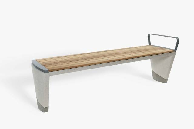 Coda Concrete And Timber Bench