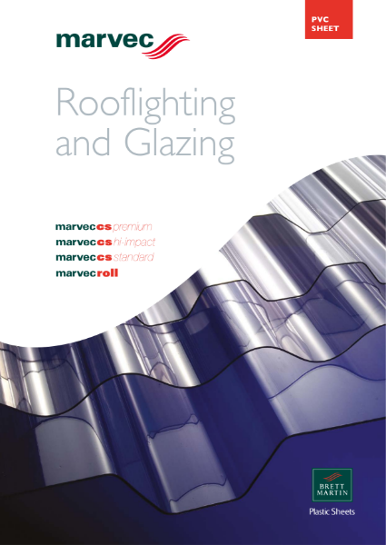 Corrugated PVC Sheet for Rooflighting and Glazing - marvec cs standard, premium, hi-impact & roll