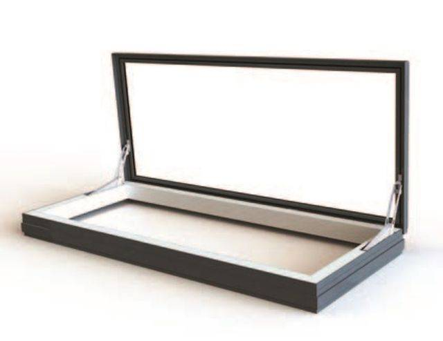 RG-80-20 Hinged Flat Glass Skyway Access Rooflight