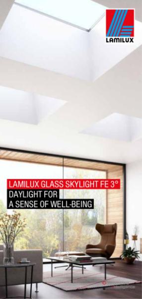 Glass Skylight FE 3°