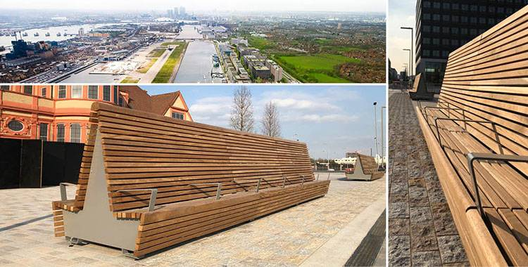 Bespoke, high-back, double-sided, modular units at Royal Docks