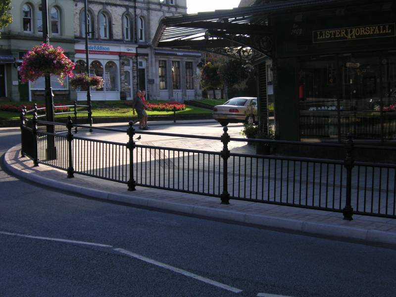 ASF Balmoral Post and Panel with Top Rail, Keighley Town Centre