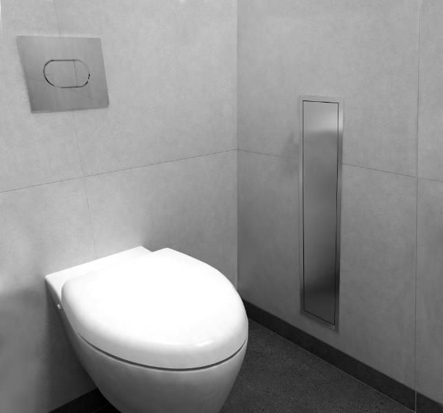 Brush Holder and Niche - Toilet brush holder