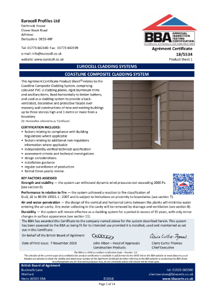 EUROCELL CLADDING SYSTEMS