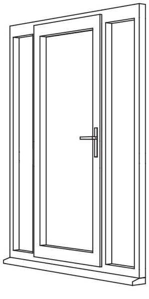 Traditional 2500 Residential Door - R6 Open Out