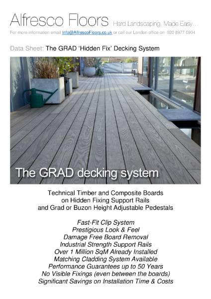 Grad `Hidden Fix` Decking System - Data Sheet