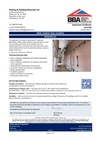 19_5708-Renderflex FIBRE-CEMENT WALL BOARDS