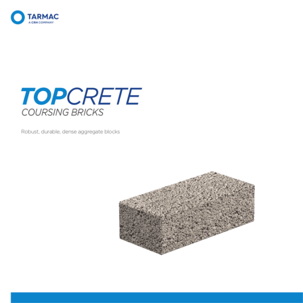 Topcrete Coursing Bricks - Aggregate Blocks Product Guide