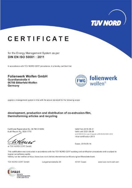 ISO 50001 Folienwerk Wolfen
