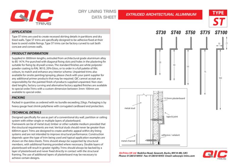 QIC Skirting solutions ST range