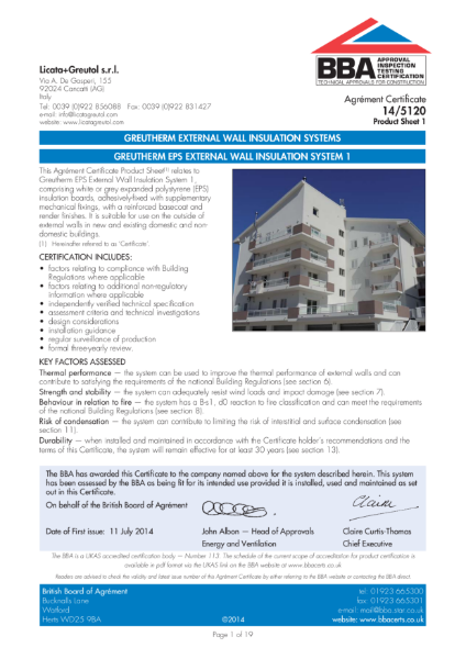 14/5120 GREUTHERM EPS EXTERNAL WALL INSULATION SYSTEM 1