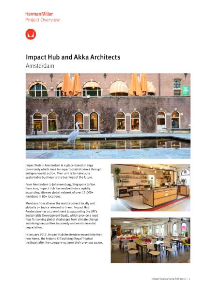 Case Study - Impact Hub - Herman Miller