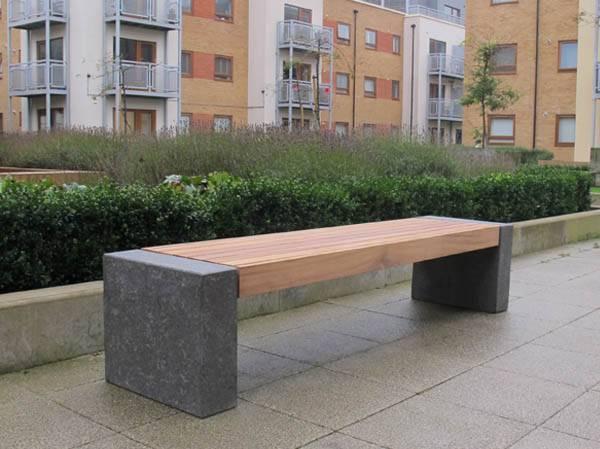 Elements Seat and Bench - Granite Blocks