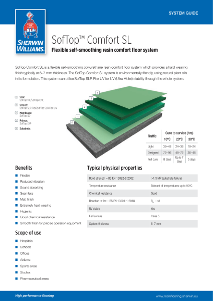 Resin flooring SofTop Comfort SL
