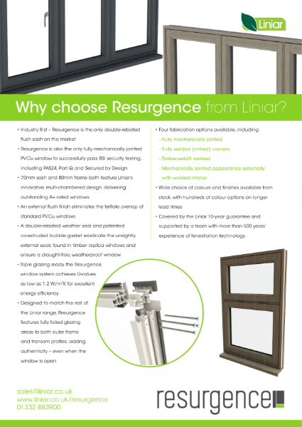 Resurgence 80mm flush sash window