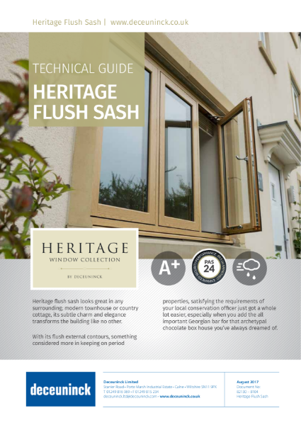 03. Heritage 2800 Flush Casement Window Datasheet