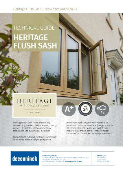 03. Heritage 2800 Flush Casement Window Datasheet
