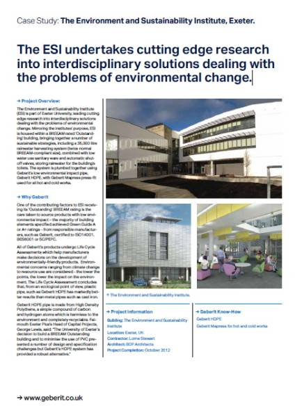 The Environment and Sustainability Institute (ESI)
