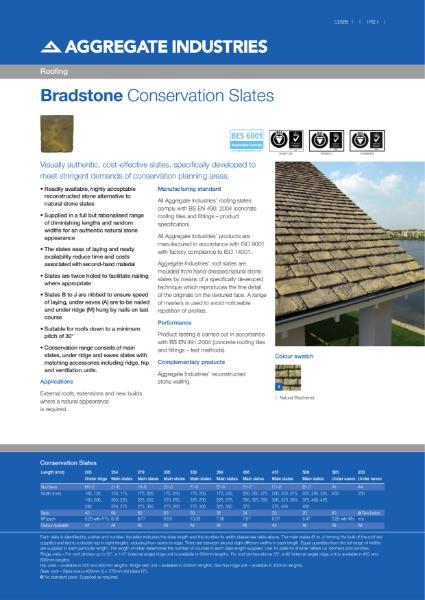Bradstone Conservation Roofing Slates