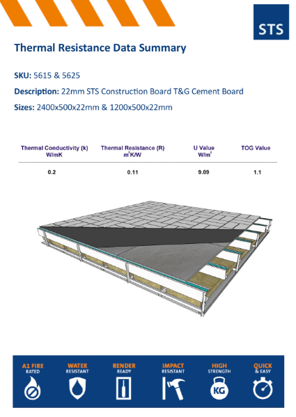 Thermal Conductivity Summary  22MM T&G Floorboard
