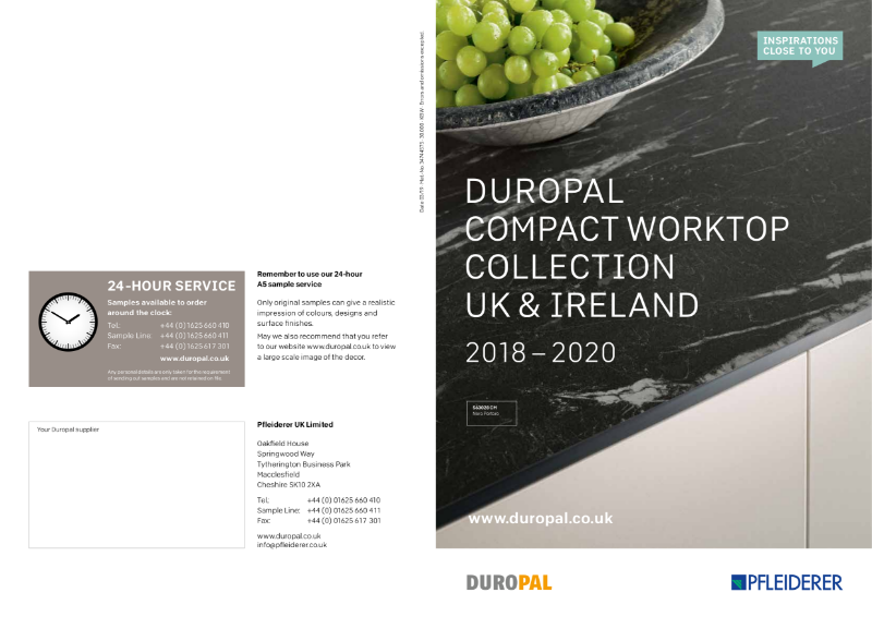 Duropal Compact Worktop Collection 2018 - 2020