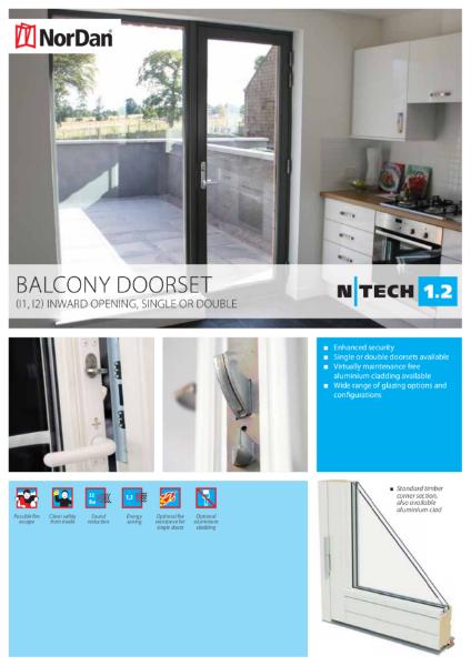 NorDan Balcony Doorset