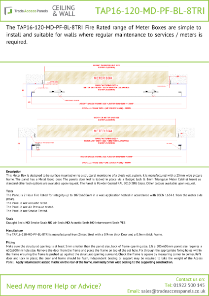 Fire Rated Overbox Product Sheet