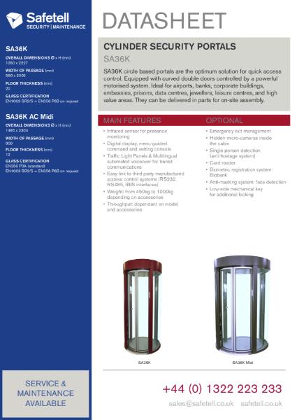 SA36K Cylinder Security Portal