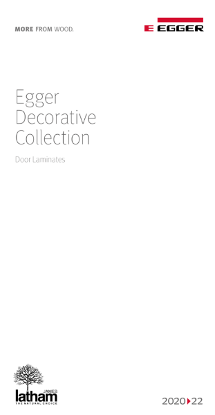 Egger Decorative Collection 2020-22 Door Laminates