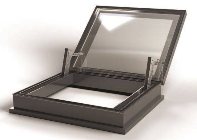 RG-80-20 AOV Hinged Flat Glass Smoke Vent Rooflight