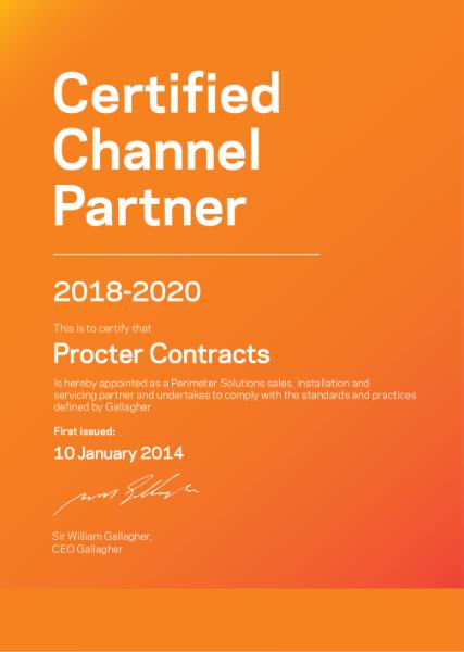 Procter Contracts Certificate (Perimeter)