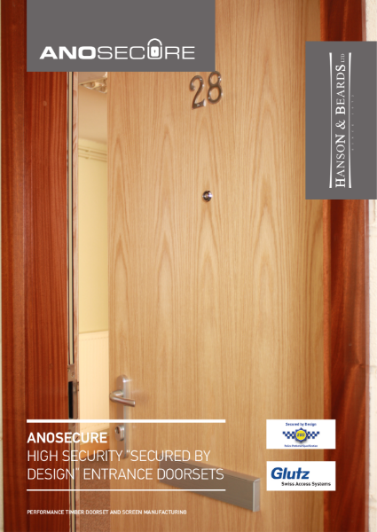 """ANOSECURE"" Secured by Design Timber Doorsets by Hanson and Beards Ltd."