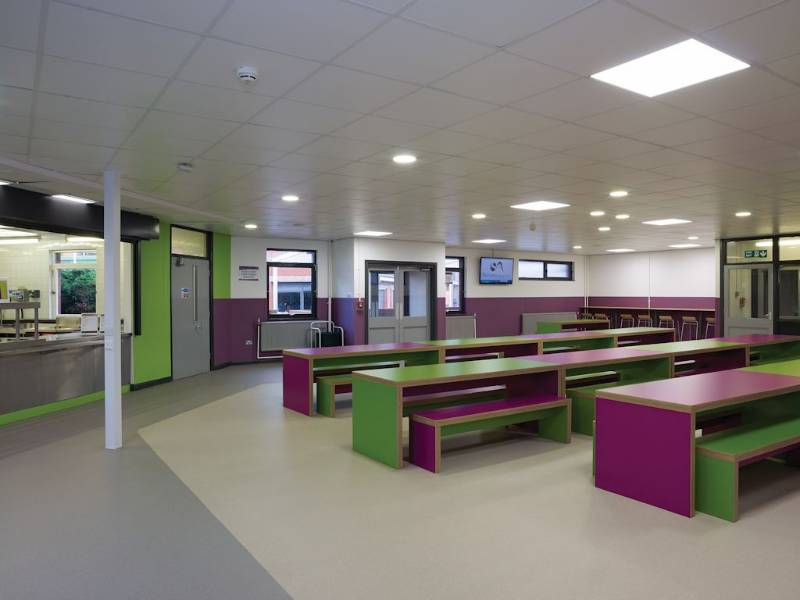 Polysafe Verona adds flavour to The Sutton Academy dining hall